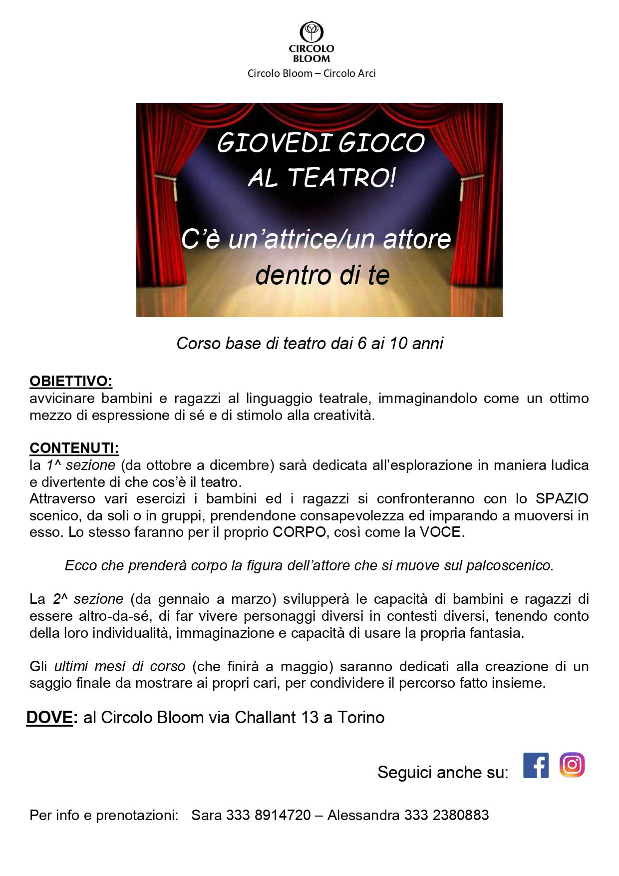 Circolo Bloom - Open Week End
